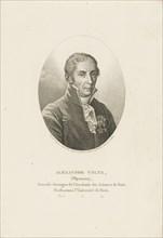 Portrait of Alessandro Volta (1745-1827) , ca 1820. Creator: Tardieu, Ambroise (1788-1841).