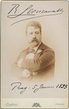 Ruggiero Leoncavallo (1858-1919), 1895. Creator: Photo studio Jan F. Langhans, Prague  .