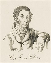 Carl Maria von Weber (1786-1826), after 1821. Creator: Anonymous.