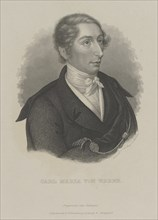 Carl Maria von Weber (1786-1826), c. 1840. Creator: Mayer, Carl (1798-1868).