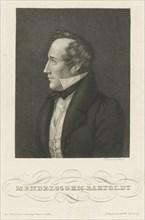Portrait of Felix Mendelssohn Bartholdy, c. 1840. Creator: Mayer, Carl (1798-1868).