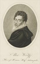 Portrait of Pius Alexander Wolff (1782-1828), ca 1820. Creator: Rossmaesler, Johann Adolf (1770-1821).