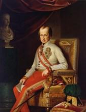 Portrait of Emperor Ferdinand I of Austria (1793-1875), c. 1840. Creator: Anonymous.