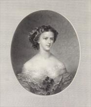 Portrait of Empress Elisabeth of Austria, ca 1855. Creator: Stöber, Franz Xaver (1795-1858).