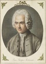 Portrait of Jean-Jacques Rousseau (1712-1778), ca 1775. Creator: Saint-Aubin, Augustin, de (1736-1807).