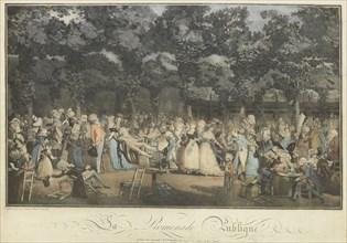 La promenade publique, 1792. Creator: Debucourt, Philibert-Louis (1755-1832).