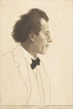 Portrait of the Composer Gustav Mahler (1860-1911), 1902. Creator: Orlik, Emil (1870-1932).