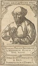 Philippus Theophrastus Aureolus Bombastus von Hohenheim (Paracelsus), 1589. Creator: Anonymous.