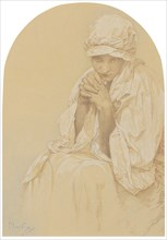 Portrait of Jaroslava, the artist's Daughter , c. 1924. Creator: Mucha, Alfons Marie (1860-1939).