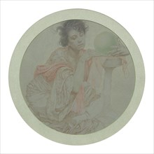 Fortune Teller with Crystal Ball. Creator: Mucha, Alfons Marie (1860-1939).