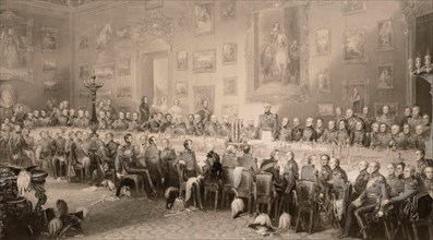 The Waterloo Banquet at Aspley House June 18, 1836 . Creator: Greatbach, William (active 1827-1859).