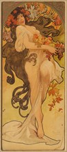 Autumn (From the Series Les Saisons), c. 1900. Creator: Mucha, Alfons Marie (1860-1939).
