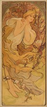 Spring (From the Series Les Saisons), c. 1900. Creator: Mucha, Alfons Marie (1860-1939).