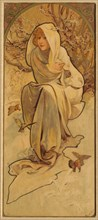 Winter (From the Series Les Saisons), c. 1900. Creator: Mucha, Alfons Marie (1860-1939).