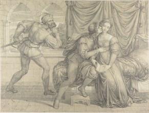 Paolo and Francesca, surprised by Gianciotto Malatesta, 1809. Creator: Koch, Joseph Anton (1768-1839).