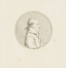 Portrait of the Poet and writer Christoph Martin Wieland (1733-1813), c. 1810. Creator: Anonymous.
