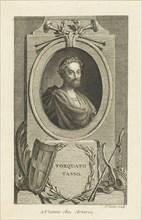 Portrait of Torquato Tasso (1544-1595) , ca 1770. Creator: Savart, Pierre (1737-1780).