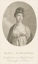Grand Duchess Maria Pavlovna of Russia (1786-1859), Grand Duchess of Saxe-Weimar-Eisenach, 1808. Creator: Boehm, Amadeus Wenzel (1771-1823).