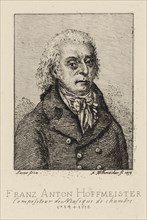 Portrait of the composer Franz Anton Hoffmeister (1754-1812). Creator: Hillemacher, Frédéric Désiré (1811-1886).