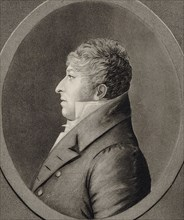 Portrait of the composer Rodolphe Kreutzer (1766-1831), 1809. Creator: Quenedey, Edmé (1756-1830).