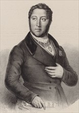Portrait of the composer Gioachino Antonio Rossini (1792-1868), 1838. Creator: Dupré, Louis (1789-1837).