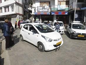 Hyundai, Indian taxi rank at Dharamshala Himachal Pradesh. Creator: Unknown.