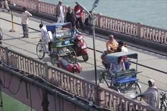 Bicycle Rickshaws, Haridwar India. Creator: Unknown.