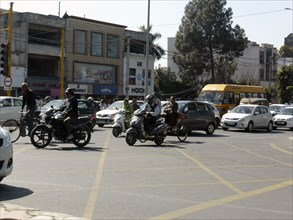 Traffic at box junction in Amritsar Punjab, India. Creator: Unknown.