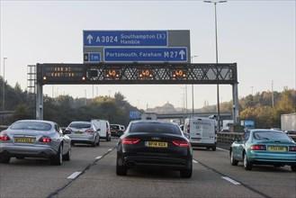 M27 motorway during morning rush-hour 2017. Creator: Unknown.