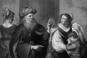 'Wherefore she said unto Abraham, cast out this bondwoman and her son', 18th-19th century. Creator: J Jenkins.