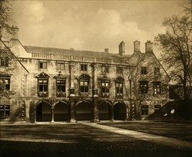 The Pepys Library, Magdalene College, Cambridge, late 19th-early 20th century. Creators: Unknown, John Palmer Clarke.