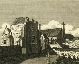 'The Archbishop's Palace Great Hall, at Canterbury', c1786.  Creator: Unknown.
