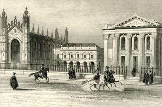 'King's College Chapel, University Library & Senate House, Cambridge', c1835.  Creator: Unknown.