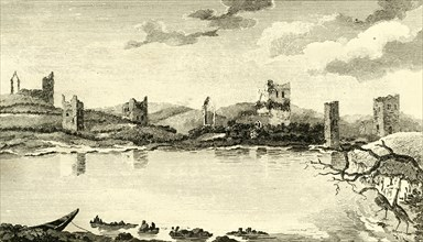 'N. View of the Ruins of Clomines, Co. Wexford', 1791. Creator: Thomas Cook.