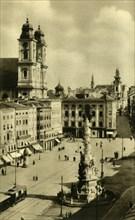 Main Square, Linz, Upper Austria, c1935.  Creator: Unknown.