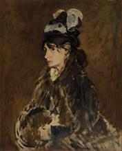 Berthe Morisot, c. 1869-73. Creator: Edouard Manet (French, 1832-1883).