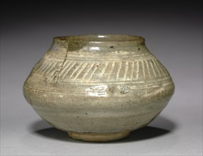 Bowl with Stamped Decoration, 1400s. Creator: Unknown.
