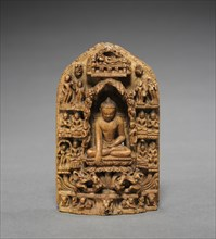 Buddha Calling the Earth to Witness, 1000-1100s. Creator: Unknown.