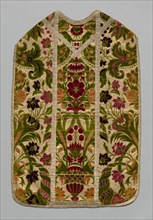 Chasuble, Stole, Burse(Corporal Case), and Maniple, c 1600- 1700. Creator: Unknown.