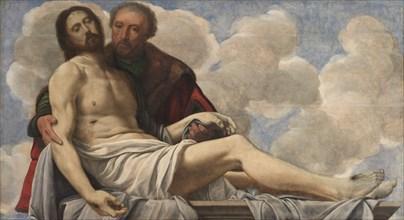 Christ with Joseph of Arimathea, c. 1525. Creator: Giovanni Girolamo Savoldo (Italian, c. 1480-aft.1548).