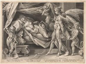 Cupid and Psyche, c. 1600. Creator: Jan Muller (Dutch, 1571-1628).