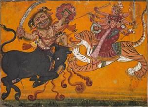 Durga Slaying Mahisha, c. 1700-1710. Creator: Unknown.