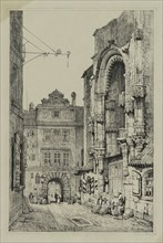 Facisimilies of Sketches made in Flanders and Germany: Thein Church, Prague, 1833. Creator: Samuel Prout (British, 1783-1852).