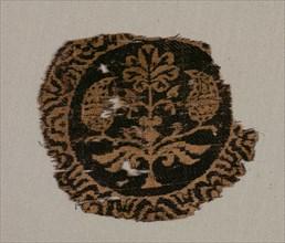 Fragment of a Segmentum with Palmette Tree, 700s. Creator: Unknown.