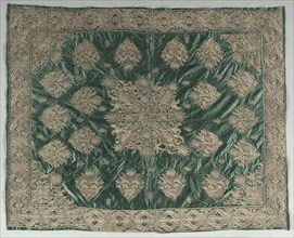 Gold-Thread Embroidered Cover, 1800s. Creator: Unknown.