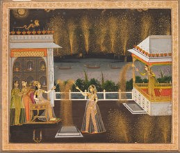 Ladies Celebrating Diwali, c. 1760. Creator: Unknown.