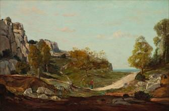 Landscape at Saint-André, Near Marseilles, c. 1865. Creator: Paul Guigou (French, 1834-1871).