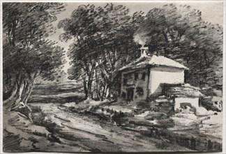 Landscape with Cottage (recto), c. 1820s. Creator: Thomas Monro (British, 1759-1833).