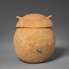 Lidded Vessel with Loop Handles, 57 BC-AD 668. Creator: Unknown.