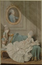 Madame Millin du Perreux and Her Son, with a Painted Portrait